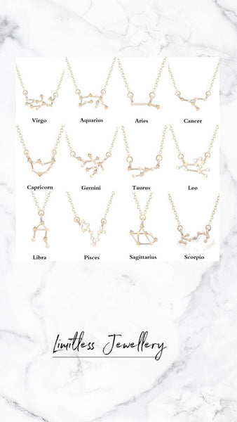 Zodiac Constellation Sign Necklace
