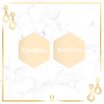 Personalized Hexagon Stud Earrings