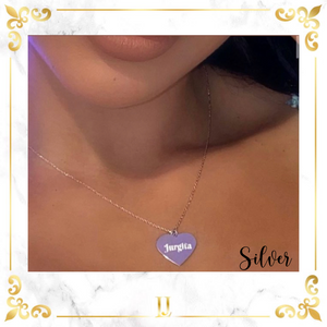 Personalized Heart Necklace - Limitless Jewellery