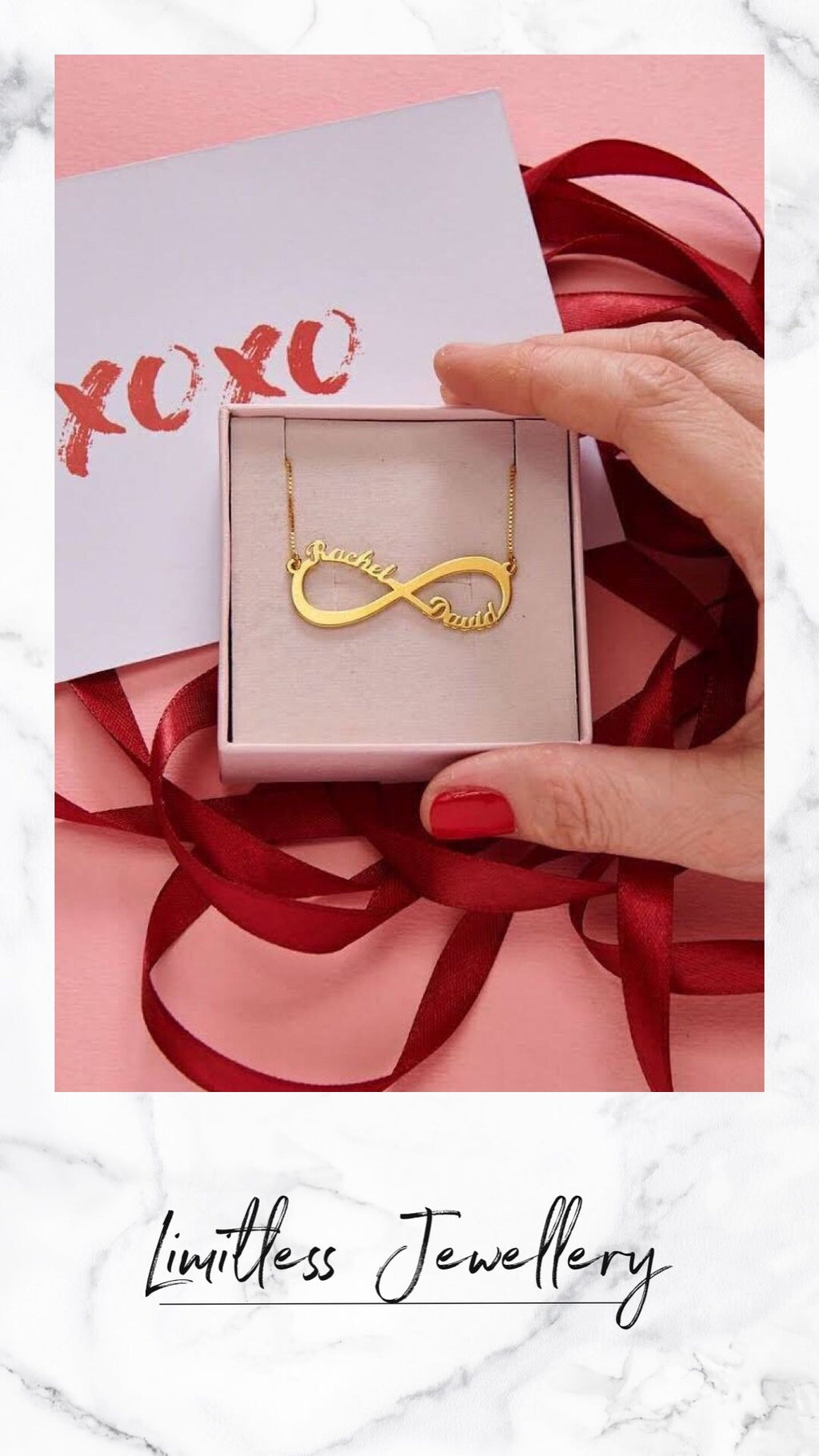 Personalized Infinity Name Necklace - Limitless Jewellery