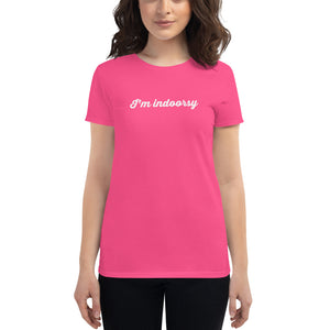 I'm Indoorsy T-shirt - Limitless Jewellery