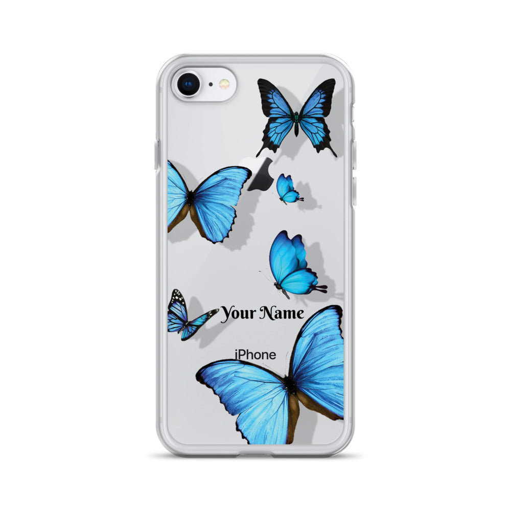 Personalized Transparent Butterfly iPhone Case - Limitless Jewellery