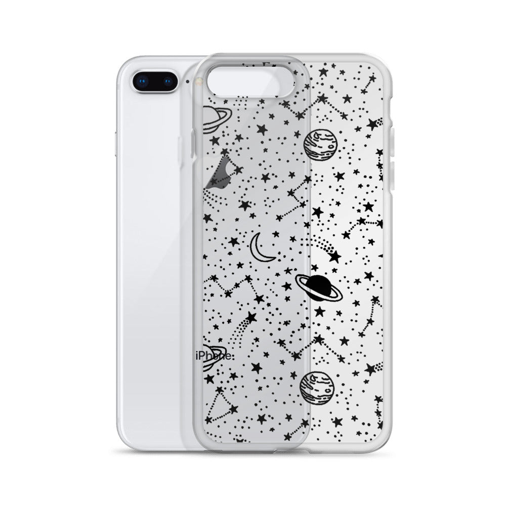 Galaxy Transparent iPhone Case - Limitless Jewellery