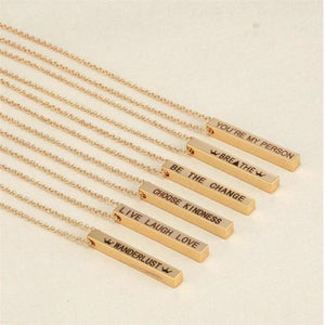 Personalized Bar Necklace - Limitless Jewellery