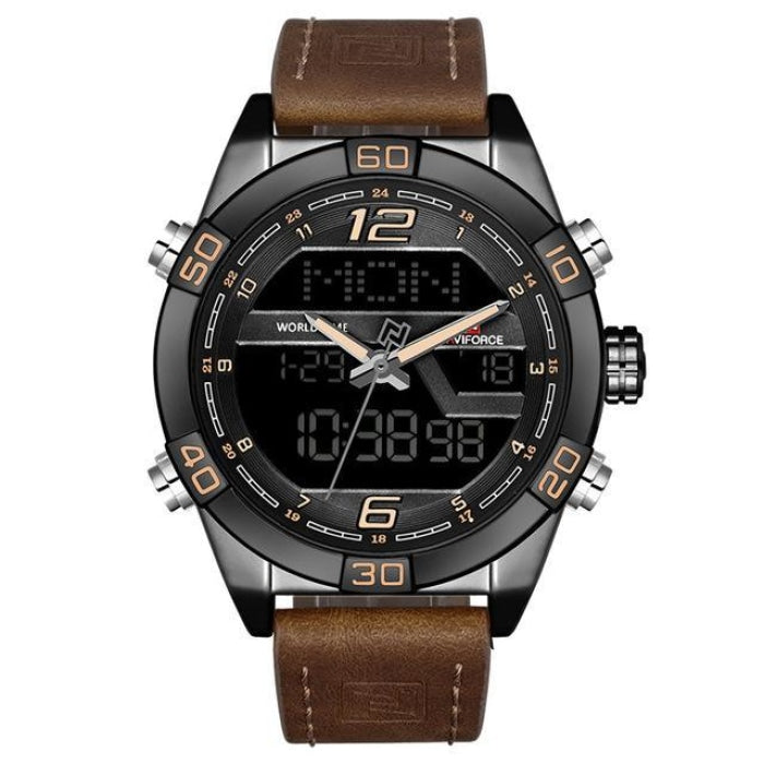 Prequal Black Brown Mens Watches