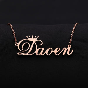 Personalized Crown Necklace - Limitless Jewellery