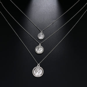 Carved Coin Necklace - Limitless Jewellery