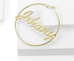 Personalized Classic Hoop Earrings