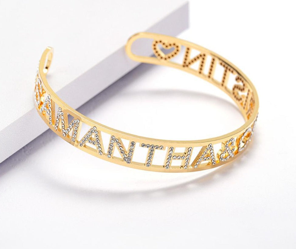 Personalized Iced Bracelet