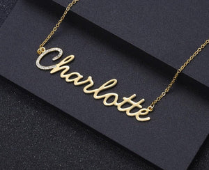 Personalized First Letter Iced Necklace