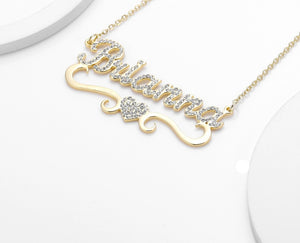 Icy Personalized Heart Necklace - Limitless Jewellery