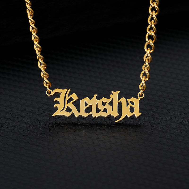 Personalized Old English Necklace - Limitless Jewellery