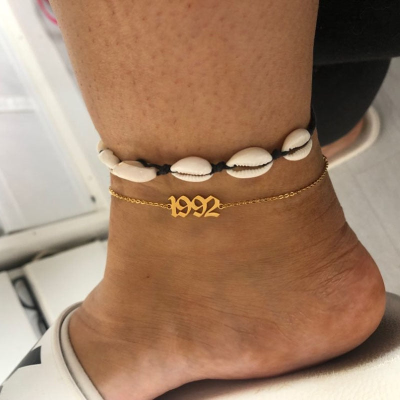 Birth Year Anklet Bracelet - Limitless Jewellery