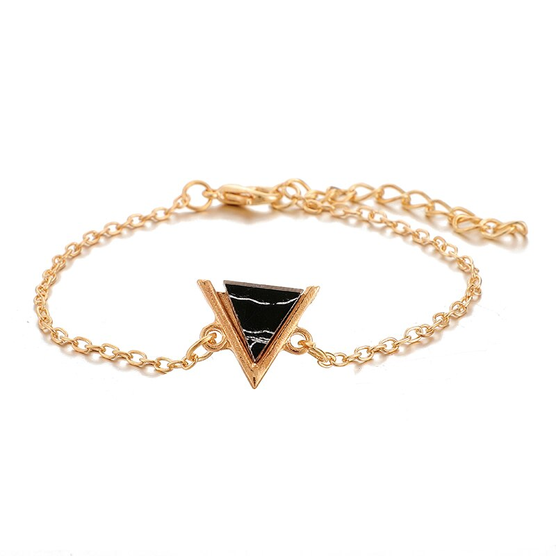 Triangle Round Moon Heart Map Bracelet - Limitless Jewellery