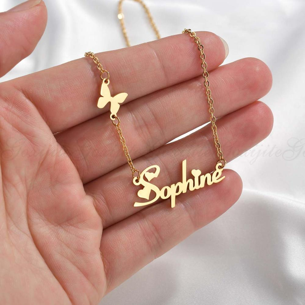 Personalized Butterfly Name Necklace - Limitless Jewellery