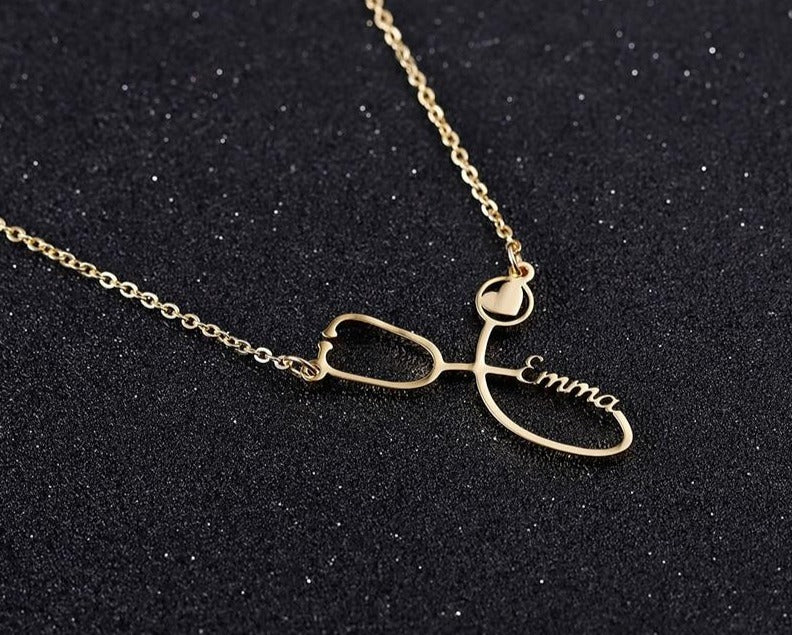 Personalized Stethoscope Necklace - Limitless Jewellery