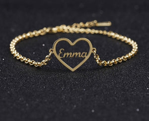 Personalized Heart Bracelet