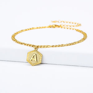 A-Z Initial  Anklet Bracelet - Limitless Jewellery