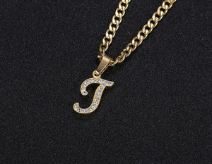 Icy A-Z Initial Necklace