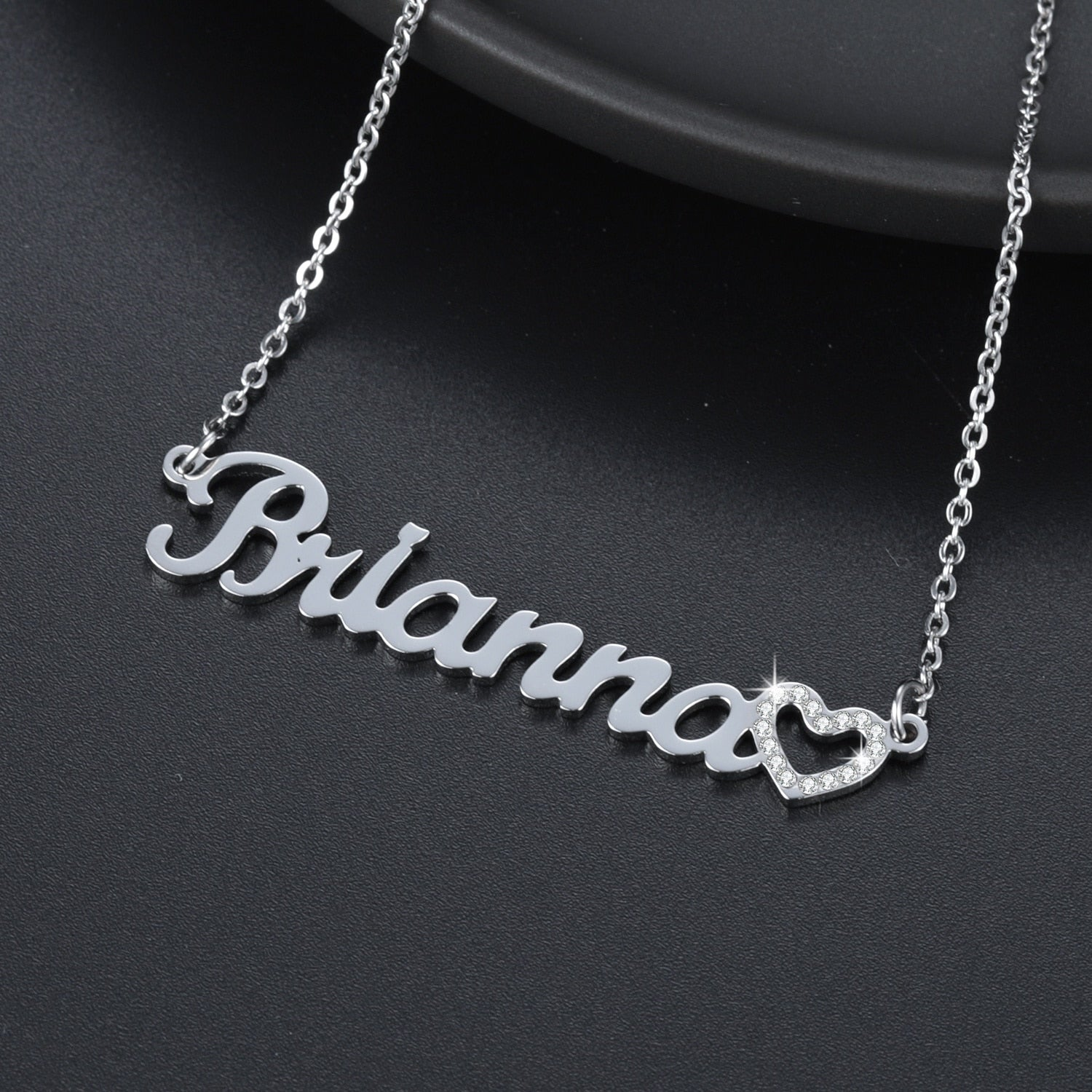 Personalized Iced Heart Necklace