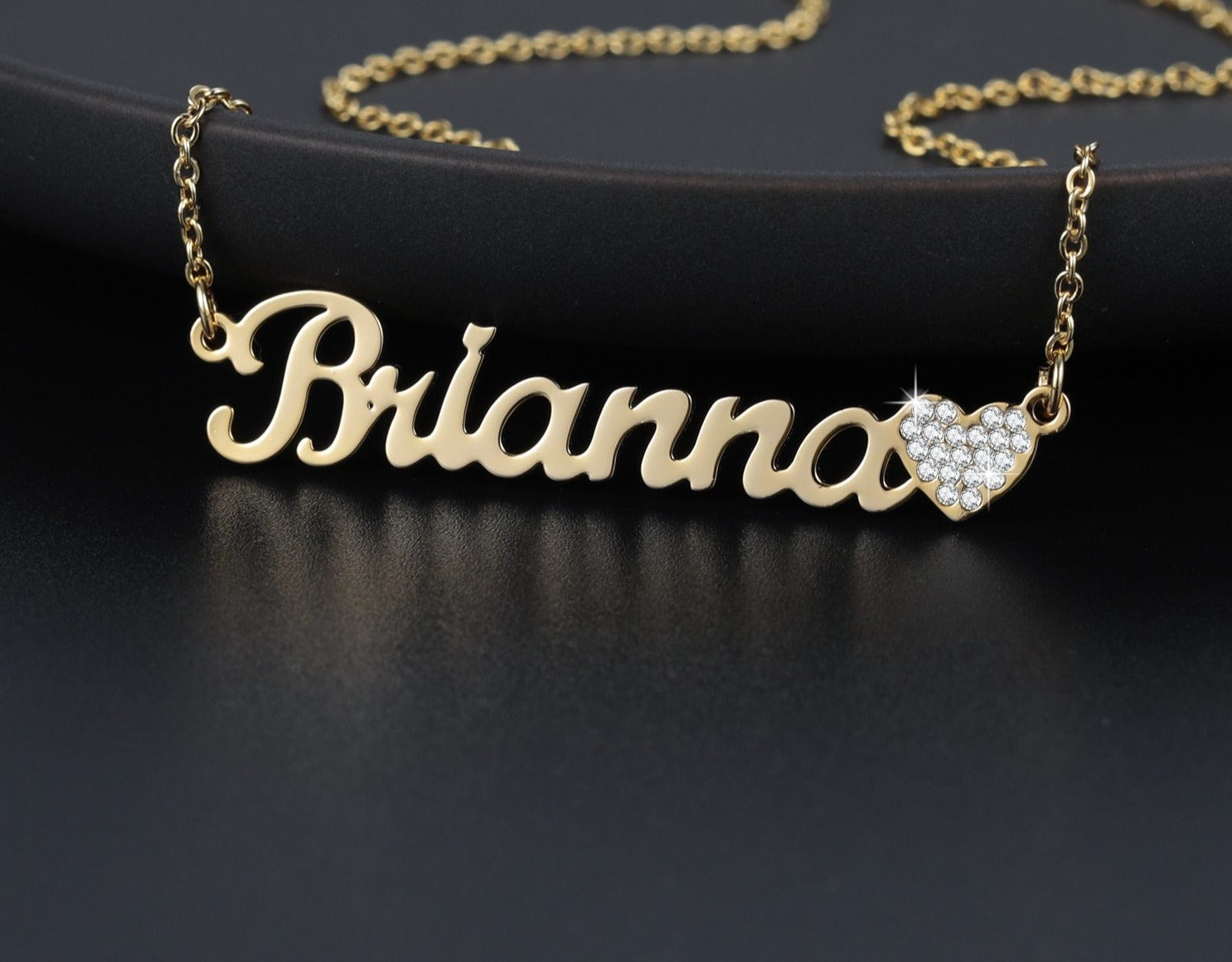 Personalized Iced Out Heart Necklace