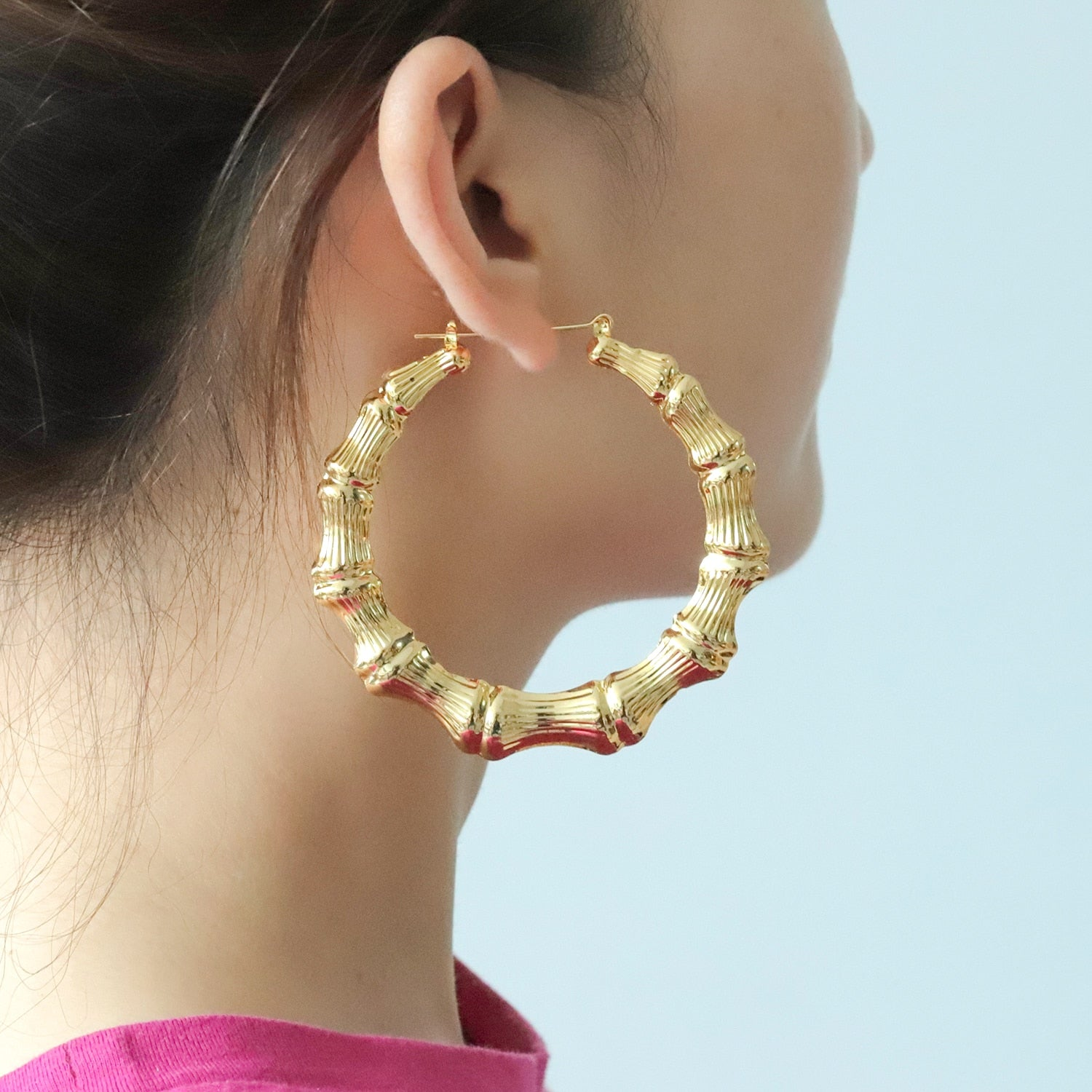 Personalized Bamboo Hoop Earrings