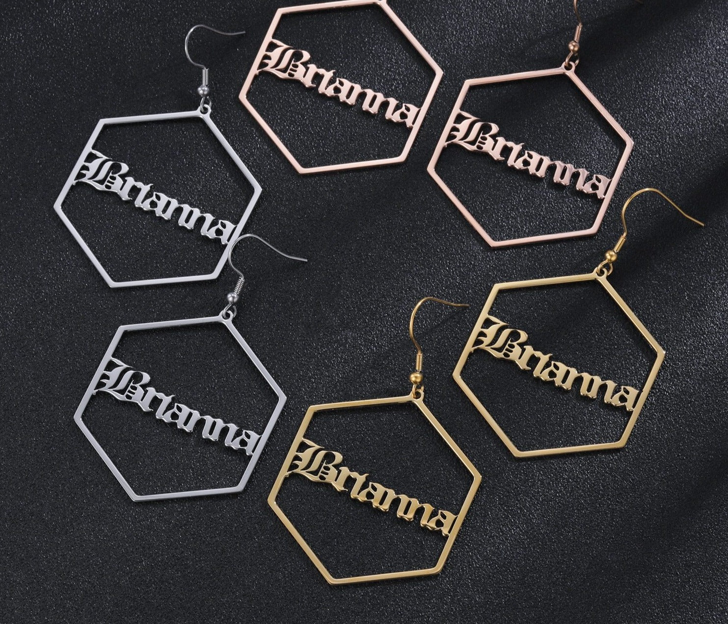 Personalized Geometric Earrings