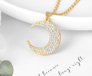Iced Out Moon Necklace