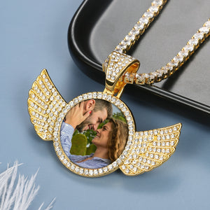Personalized Custom Photo Wings Necklace