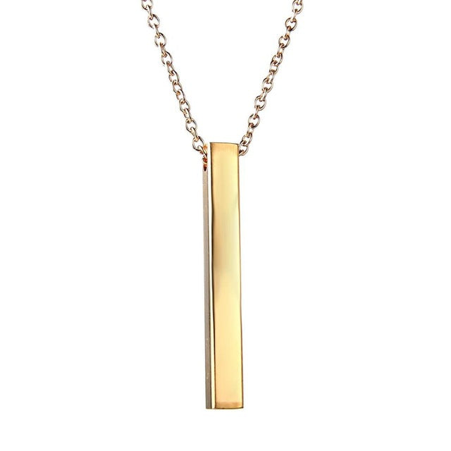 Bar Custom Name Necklace - Limitless Jewellery