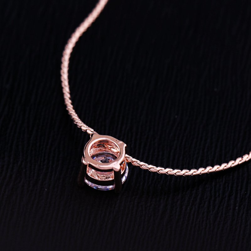 Rose Gold Crystal Necklace - Limitless Jewellery