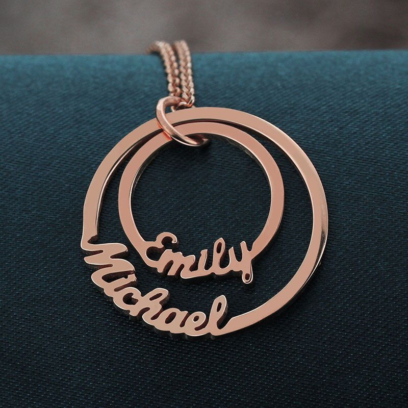 Personalized Circle Name Necklace - Limitless Jewellery