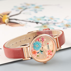 Flower Leather Women Watch - Limitless Jewellery