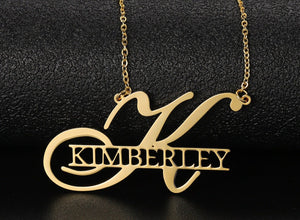 Personalized Monogram Name Necklace