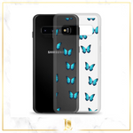 Butterfly Transparent Samsung Phone Case - Limitless Jewellery