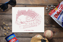 Citizens Bank Park, Home of the Philadelphia Phillies, Stipple Art Print