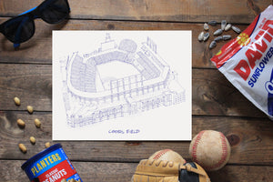 Coors Field, Home of the Colorado Rockies, Stipple Art Print