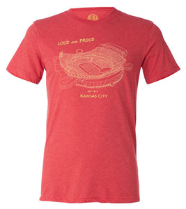 Arrowhead Stadium, Home of the Kansas City Chiefs, Stipple Art Shirt