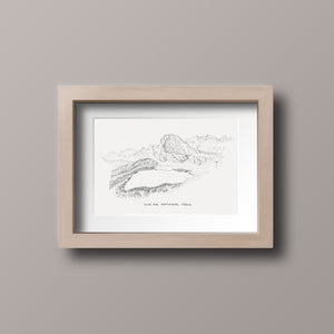 Glacier National Park Stipple Art Print