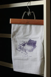 Bill Snyder Family Stadium, Home of the Kansas State Wildcats, Stipple Art Tea Towel