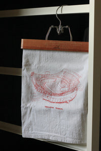 Arrowhead Stadium, Home of the Kansas City Chiefs, Stipple Art Tea Towel