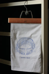 Kauffman Stadium, Home of the Kansas City Royals, Stipple Art Tea Towel