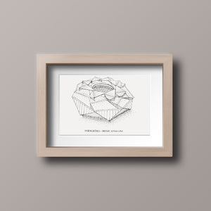 Mercedes Benz Stadium, Home of Atlanta United, Stipple Art Print
