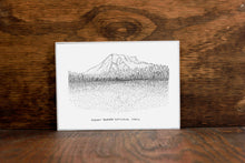 Mount Rainier National Park Stipple Art Print