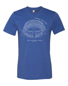 Kauffman Stadium, Home of the Kansas City Royals, Stipple Art Kids Shirt