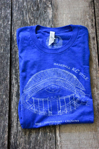 Kauffman Stadium, Home of the Kansas City Royals, Stipple Art Shirt