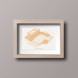 Reser Stadium - Oregon State Beavers - Stipple Art Print - Football Art - Oregon State Beavers Art - Oregon State Beavers Print