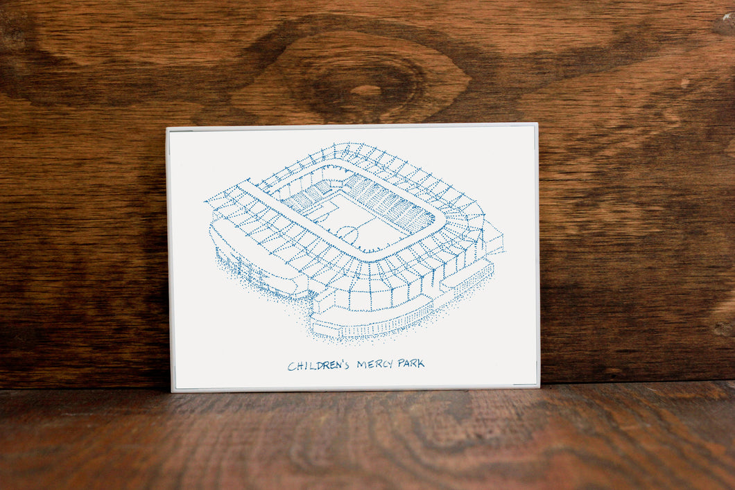 Children's Mercy Park, Home of Sporting KC, Stipple Art Print