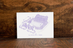 Bill Snyder Family Stadium, Home of the Kansas State Wildcats, Stipple Art Print