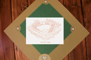 Camden Yards, Home of Baltimore Orioles, Stipple Art Print